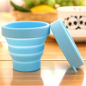 Novelty Silicone Folding Cups Multi Colors Water Bottles Outdoor Travel Portable Cup Heat Insulation Pratical Drinkware 2 5cm ii