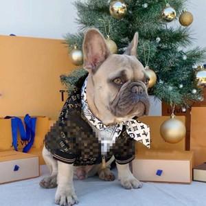 Lettera FashionCute Roditori cane Outerwears Dog Apparel Teddy Bulldog Schnauzer pet Giacche Abbigliamento