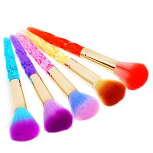 Радуга Цвет Ногтей Braashes Pust Remover Макияж Кисти Ногтей Инструменты Ногтей Искусство