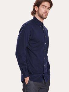 2020 Fashion Denim Blue Men Shirt Long-Sleeved Casual Shirts For Men Slim Fit Luxury Male Dress Shirts Formal Tops For Men