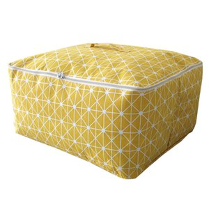 Portable Cloest Organizer Box High Quality Clothing Storage Bag Blanket Tidy Case Container 3 Sizes Toys Storage Bag Multi Color