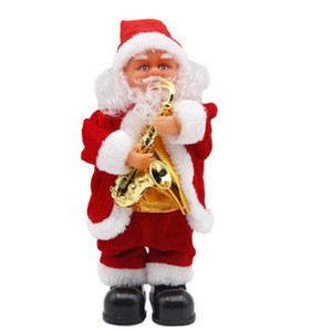 5 Styles Electric Santa Claus Toy Christmas Electric Dancing Music Santa Claus Xmas Doll for Kids Party Christmas Decorations GGA3561-4