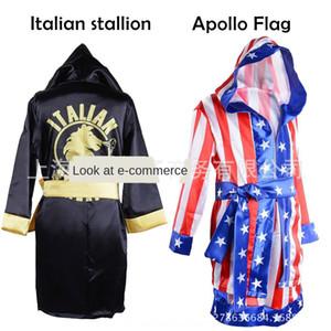 YSXLo boxe King Rocky costume de boxe chemise enfants Balboa manteau étoile rayé américain tong tong chen shan chemise chen shan enfants Cap