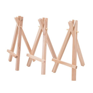 8x15cm Natural Wooden Mini Tripod Easel Mini Display Stand for Wedding Place Name Holder Menu Board Minis Tripod Easel Mini Display Stand