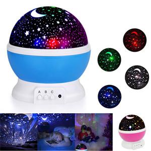 Proyector ligero de 360 grados giratoria Habitación Romántica proyector de estrellas del cielo estrellado de la luna proyector de la noche Kid dormitorio de la lámpara para la Navidad