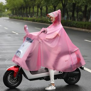 Single raincoat cycling electric battery car poncho adult with mirror cover bicycle Cloak bicycle crystal raincoat