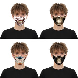 Forza arabe Drapeau de l'Espagne Imprimer Masque Visage Masques continuer à nous battre pour adultes Tissu adulte Masque Preuve lavable # 607