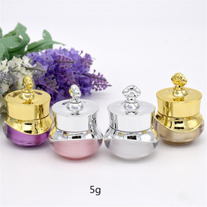 5 10g Crown Empty Pot Bottle Sample for Nail Art Makeup Cosmetic Cream Container Refillable Bottles For Dropshipping