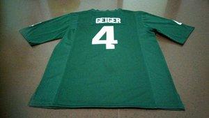 Men # 4 Michael Geiger Michigan State Spartans Alumni Fußball-Jersey-GREEN S-4XLor Gewohnheit jeder Name oder Nummer Jersey