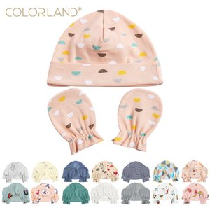 Cotton double-sided cloth newborn hat 3-Piece Set baby cotton and gloves Cloth gloves mommy bag OEM