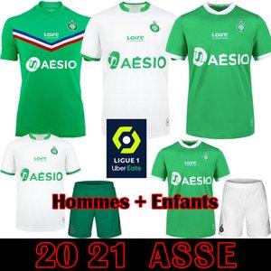 Maillot ASSE 2020 2021 AS Etienne Futbol Formalar 20 21 Khazri Cabella BERIC Hamouma Le Coq Sportif Yetişkin Çocuk Seti Futbol atletler ekipman