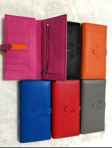 Женщина бумажник кошелек несколько бумажников с оригинальной коробкой мешка для сбора пыли верхнего качества кожи монета кошелек Шесть цветов Пары Hasp бумажники 19cm * 10см * 2сма