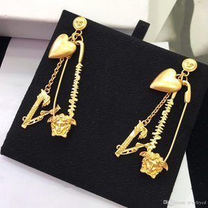 2020 Luxury designer and jewelry women earrings Luxury bespoke hot style heart fringe earrings