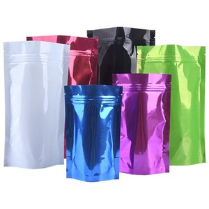 Colorful Food Powder Storage Bag Heat Sealable Stand Up Pouch Aluminum Foil Self sealing Plastic Bag wholesale