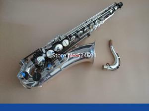 Новый бренд тенор Bb Tune Саксофон Silver и Black Nickel Поверхностный Музыкальные инструменты Sax С Case мундштук