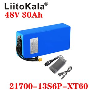 LiitoKala 48V 30Ah 21700 5000mAh de iones de litio 13S6P Vespa batería 48v 30Ah bicicleta eléctrica Cargador de batería XT60 48V2A