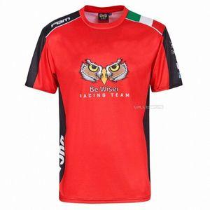 Frete grátis Moto GP Seja Red Wiser Racing Team Rally Superbike Red T-shirt para a motocicleta bicicleta Jqoz #