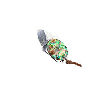 FK-138 importados mini-aço de Damasco VG10 forjadas dobrar faca de bolso com Abalone naturais alça shell de cor com furo chave como melhor presente