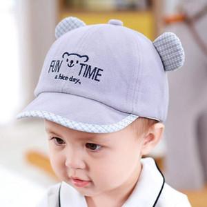 Cute Baby Hat с ухом Мультфильм Дети Baby Boy лето девушка шлем Регулируемые Младенческой малышей Baseball Cap Sun Bonnet Enfant Muts