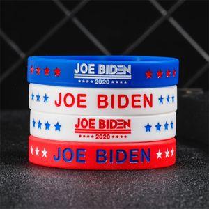 4 color USA Biden Silicone bracelet Unisex Rubber Elastic Band Bracelet Party Gift Fashion Outdoor Sports Wristbands Wholesale JJ604