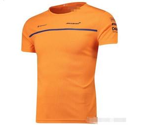 F1 맥라렌 레이싱 포뮬러 원 팬들은 빠른 건조 상단의 사용자 정의 자전거 오토바이 짧은 소매 라운드 넥 T 셔츠 셔츠