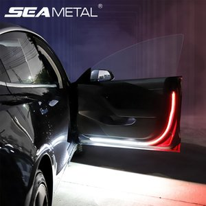 Car Door Interior LED Light Auto Door Opening Warning Lamps Strobe Warning Streamer Lights Bar Waterproof Light Projector