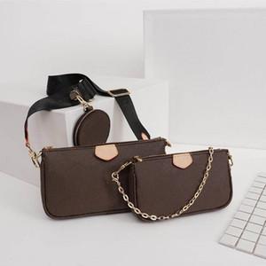 2020 Bayan cüzdanları çantaları üç çanta deri omuz çantası küçük moda çanta cüzdan bolsos de lujo de dise