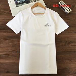Valentino 2020 de la moda de manga corta camiseta de los hombres del nuevo del algodón Camiseta para hombre Camiseta del verano Tops hombre de negocios de golf t mierdas Ropa Blanca