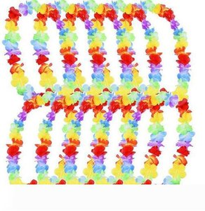 500pcs lot Hawaiian leis Party Supplies Garland Necklace Colorful Fancy Dress Party Hawaii Beach Fun