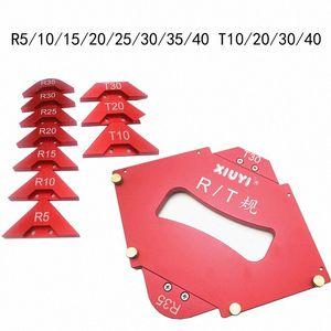 Обрезка машина R закругленного скошенного шаблон маршрутизатор Таблицы Уголок Jig Радиус Фаска профиль шаблон Kit Деревообрабатывающие инструменты akHU #
