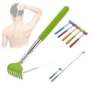 Stainless Steel Back Scratcher Telescopic Portable Adjustable Size Extend Itch Aid Scratch Tool With Soft Grip