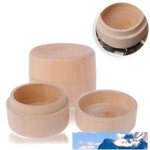 60pcs pequeñas y redondas caja de madera caja del anillo de la vendimia decorativa natural joyería del arte de caja de la caja de la boda Accesorios CCA11868-C