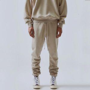 TANRI Essentials Pantolon 3M Yansıtıcı Harf Nakış Parça Pantolon Moda Sokak Erkekler Pantolon Spor Sweatpants OF 19FW SİS KORKUSU