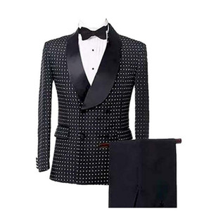 Business Double Breasted Men Suits Slim Fit Groom Blazer Coat Tailored Long Size 34 36 38 40 42 44 46 48 50 52