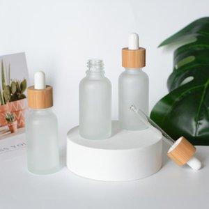 30ml 1 oncia di bambù naturale di vetro glassato Dropper Bottiglie bottiglie di olio essenziale di trucco Packaging flaconi contagocce