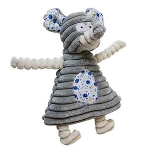 Dog Toys Pet Puppy Chew Squeaker Squeaky Plush Sound Cute Rabbit Elephant Stuffed Dog Squeaking Toy