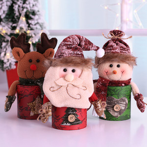 Christmas Action & Toy Figures Decorations Dolls Shape Candy Bag Children Gift Old Man Snowman Elk Shapes Innovative