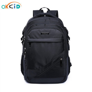 sacchetti di scuola per i ragazzi 15.6 17 pollici bambini laptop bag zaino zainetto ragazzo cartable bambini ecole zaini in nylon zaino nero T200709