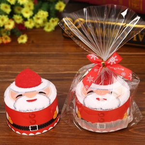 Towels 30*30 cm Christmas Cake Santa Claus Snowman XMAS Tree Party Favors Wedding Birthday Gifts Baby Cotton Towels Decorations for Home