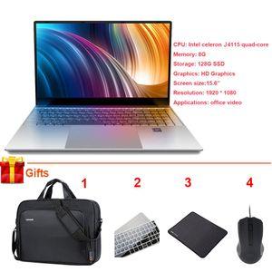 뜨거운 판매 드롭 배송 15.6 인치 노트북 8기가바이트 256기가바이트 인텔 셀러론 J4115 쿼드 코어 창 (10) 노트북 연구 사무실
