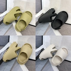 kanye west Foam Runner Sandals Kids Slides Shoes Resin Bone chaussures enfants Summer Slipper Childrens Boys Toddler Slippers Size 23-35