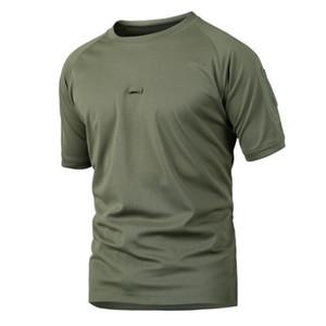 Мужское Tactical Быстросохнущей с коротким рукавом Футболка Summer Army Combat O шеи Повседневного тройники Mens Pro дышащего T Shirt