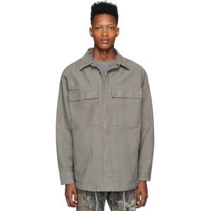 20SS FG 6 일 로스 앤젤레스 LA는 HFHLCS038 6669 올드 워크 셔츠 탑 전체 인쇄 남성 여성 셔츠 패션 캐주얼 스트리트 착실히 보내다 재킷을 씻어