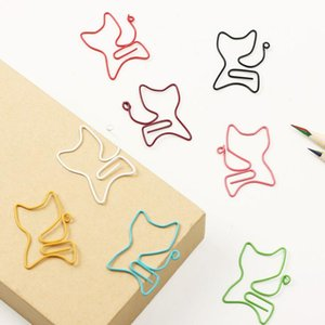 Bulk package 200 pcs Cat Shape Metal Bookmark Clip Memo Clip Paper Clip Bookmark DIY Novelty Office Learn Stationery LX2401