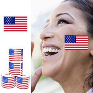 American Flag-Gesichts-Aufkleber 2020 Präsident der Vereinigten Staaten Wahl Supplies Flag Environmental Aufkleber YYA322 100pcs