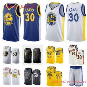 Hombres y mujeres de baloncesto de oroEstadoguerreros30 StephenCurry amarillo blanco compañero de ala negro sin mangas Jersey y pantalón 001