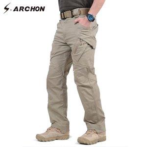 Günstige Fracht S.archon IX9 Männer Stadt Tactical Multi Taschen Cargo Pants Militär Kampf Baumwollhose SWAT Armee Hosen Hike Pants