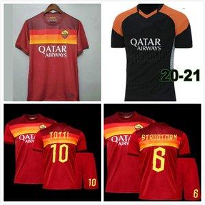 Thailand DZEKO PEROTTI PASTORE ZANIOLO soccer jersey rome 2020 2021 jersey 20 21 football kit shirt DE ROSSI as maillot de foot roma .