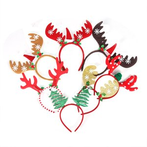 Christmas Headband Xmas HairBand Reindeer Christmas Tree Headwear Head Hoop Party Hairband New Year Kids Gift Navidad Decor Noel