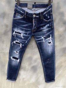 20SS Herren Designer Jeans 2019 Spring Black Ripped Distressed Designer Holes Jean-Bleistift-Hosen Taschen Hommes Pantalones